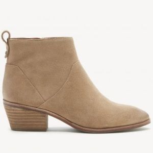 Sole Society Camel Suede Ankle Bootie Inside Zip 4
